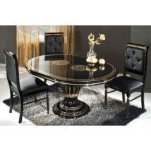 H2 Rossella Day Kerek étkezőasztal 115x115 cm (+45 cm hosszabbítható) - fekete-arany