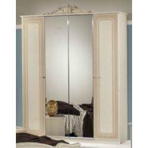 H2 Stella 4-ajtós szekrény, 2 tükrös ajtóval - bézs