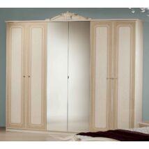 H2 Stella 6-ajtós szekrény, 2 tükrös ajtóval - bézs