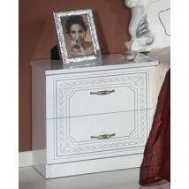 H2 Stella Éjjeliszekrény - fehér-ezüst