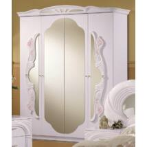 H2 Vanity 4-ajtós tükrös szekrény - fehér