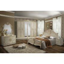Amalfi klasszikus olasz hálószoba garnitúra, bézs színben
