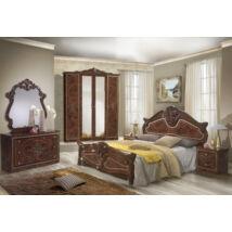 Amalfi klasszikus olasz stílusú hálószoba garnitúra, dió színben