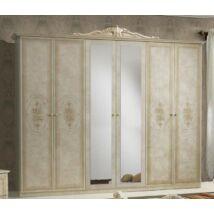 Amalfi ruhásszekrény 6a - bézs