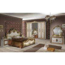 Anita klasszikus olasz stílusú hálószoba garnitúra, bézs színben