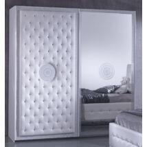 Antalia ruhásszekrény 2 tolóajtós 220 cm - fehér
