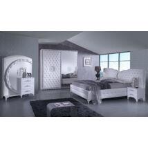 Antalia modern olasz hálószoba garnitúra, fehér színben