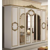 Barocco ruhásszekrény 6a - fehér-arany