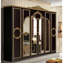 Barocco ruhásszekrény 6a - fekete-arany
