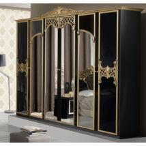 Eva ruhásszekrény 6a - fekete-arany