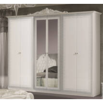 Lion szekrény 6a - fehér-ezüst