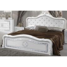 Luisa ágykeret 180 - fehér-ezüst