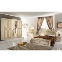 Luisa klasszikus olasz hálószoba garnitúra, bézs színben