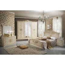 Roma klasszikus olasz hálószoba garnitúra, bézs színben