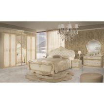 Tolouse klasszikus olasz stílusú hálószoba garnitúra, bézs színben