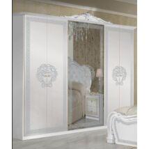 Vilma ruhásszekrény 4a - fehér-ezüst