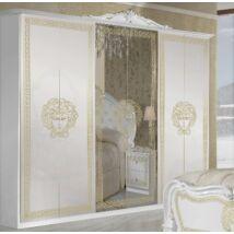 Vilma ruhásszekrény 6a - fehér-arany
