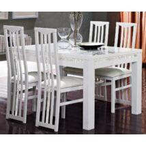 LM Roma Cromo Day Étkezőasztal 190x90 cm - fehér