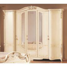 5-ajtós ruhásszekrény, 3 tükrös ajtóval
