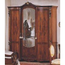 PI Barocco 3-ajtós ruhásszekrény, 1 tükrös ajtóval