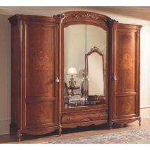 4-ajtós ruhásszekrény, 2 tükrös ajtóval