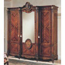 PI Tresor 3-ajtós ruhásszekrény, 1 tükrös ajtóval