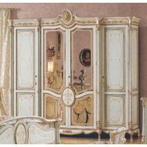 PI Tresor 4-ajtós ruhásszekrény, 2 tükrös ajtóval