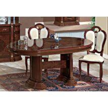 Florence Day Ovális étkezőasztal 200x105 cm (+50 cm hosszabbítható) - dió