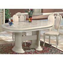 Florence Day Ovális étkezőasztal 200x105 cm (+50 cm hosszabbítható) - bézs