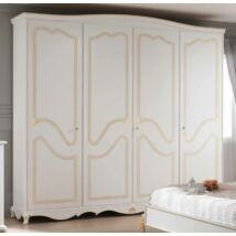 ISCHIA 4-ajtós szekrény valódi arany fóliával