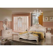 TL Amalfi hálószoba - bézs 160x200 cm ággyal, 6-ajtós szekrénnyel