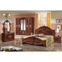 TL Amalfi hálószoba - dió 160x200 cm ággyal, 6-ajtós szekrénnyel