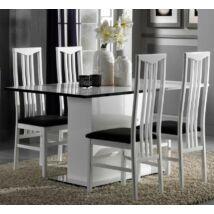 Milano Day Étkezőasztal 160x90 cm - fekete-fehér
