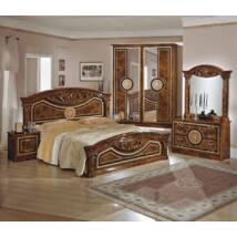 TL Roma hálószoba - dió 160x200 cm ággyal, 4-ajtós szekrénnyel