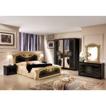 TL Roma hálószoba - fekete-arany