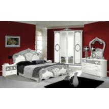 TL Sibilla hálószoba - fehér-ezüst
