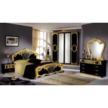 TL Sibilla hálószoba - fekete-arany