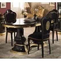 TM Venus Day ovális alakú étkezőasztal, kihúzható elemmel (+50 cm hosszabbítható), fekete-arany színben