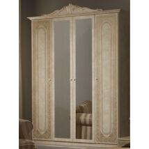 TM Elena 4-ajtós szekrény, 2 tükrös ajtóval - bézs