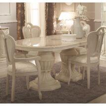 TM Greta Day Ovális étkezőasztal 182x104 cm (+50 cm hosszabbítható) - bézs