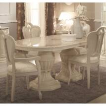 Ovális étkezőasztal 182x104 cm (+50 cm hosszabbítható) - bézs