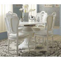Kerek étkezőasztal 114x114 cm (+40 cm hosszabbítható) - bézs