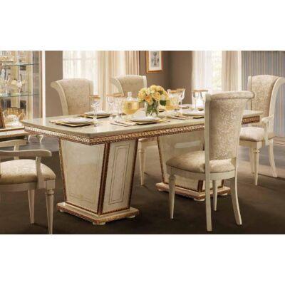 Étkezőasztal 2 kihúzható elemmel (+2x 50 cm hosszabbítható)