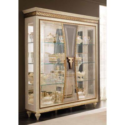 3-ajtós vitrines szekrény