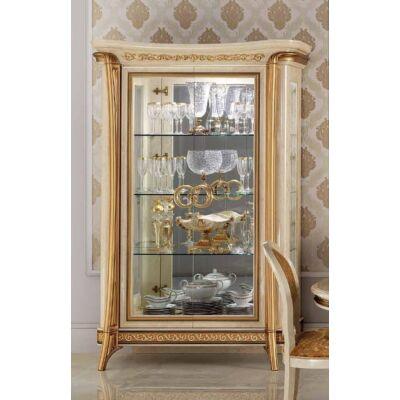 2-ajtós vitrines szekrény