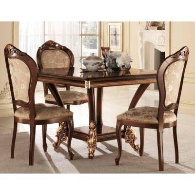 Négyzet alakú étkezőasztal 120x120 cm (+40 cm hosszabbítható)