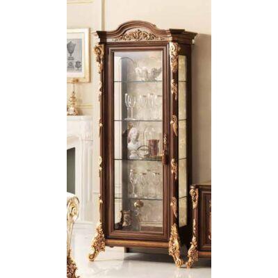 1-ajtós vitrines szekrény