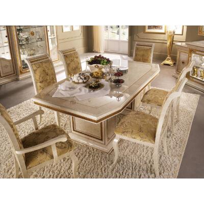 AC Leonardo Day olasz klasszikus étkező garnitúra, elefántcsontszín-arany színben