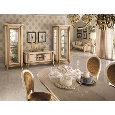 AC Melodia Day olasz klasszikus nappali garnitúra, elefántcsontszín-arany színben