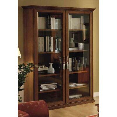2-ajtós könyvszekrény, fa hátlappal